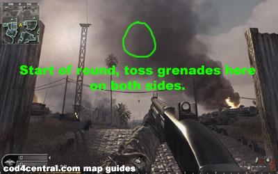 CoD4 grenade toss ambush