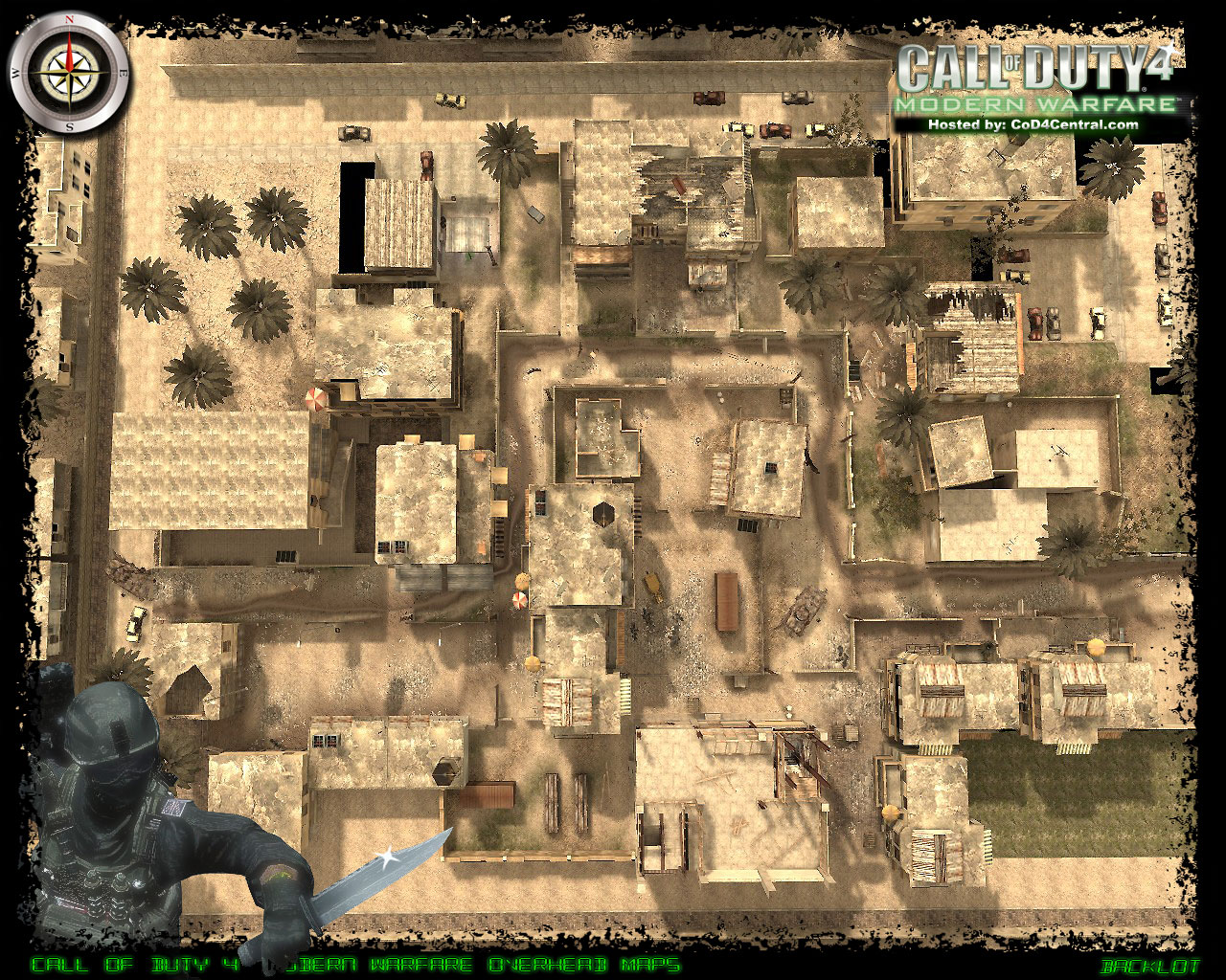 CoD4 Backlot Ultra High Resolution Map Image