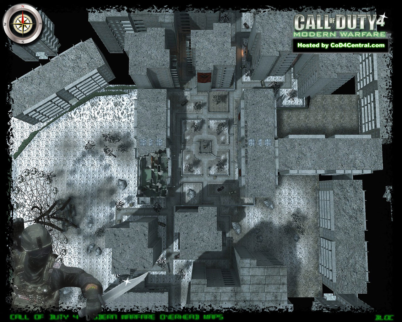 CoD4 bloc Ultra High Resolution Map Image