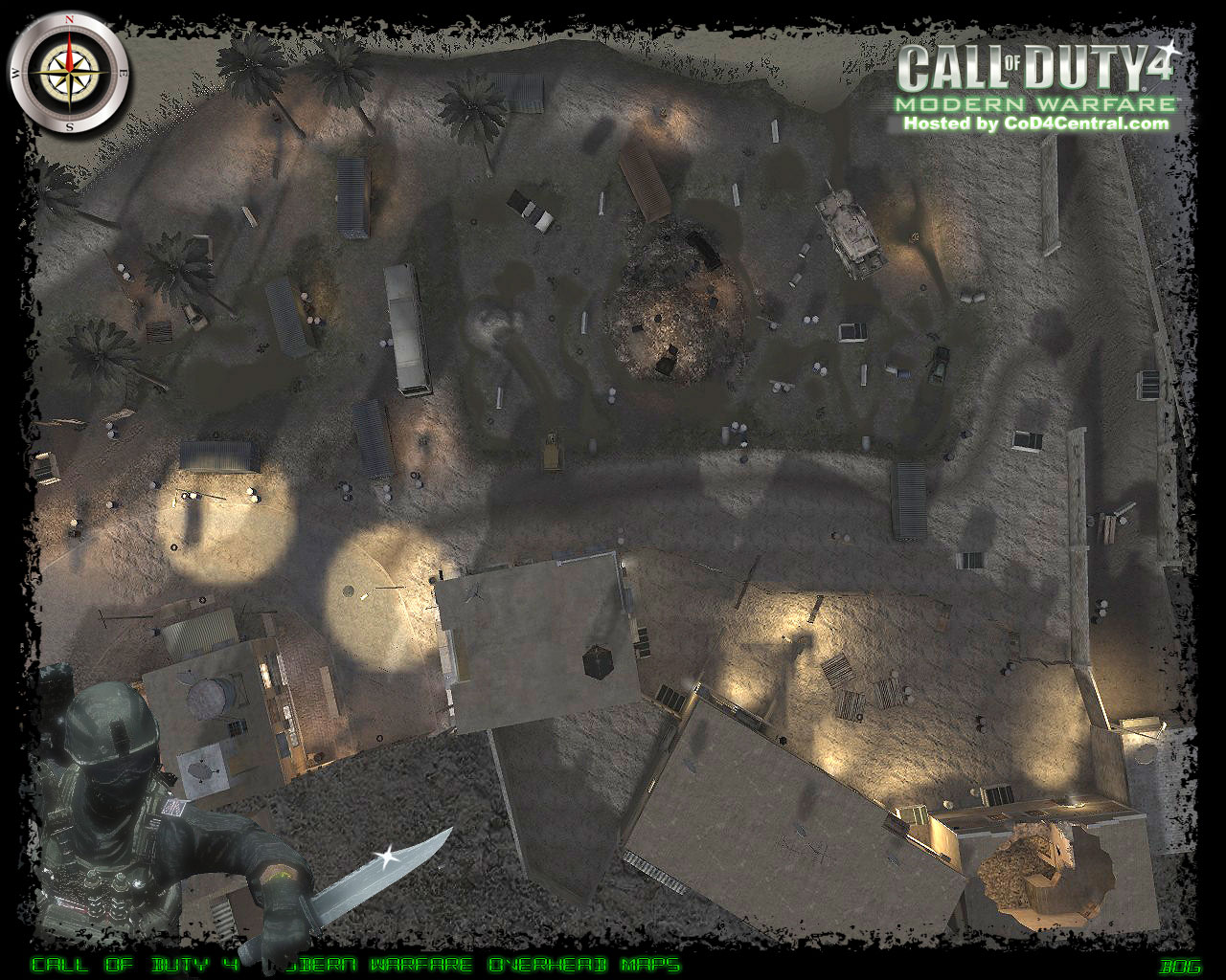 CoD4 bog Ultra High Resolution Map Image