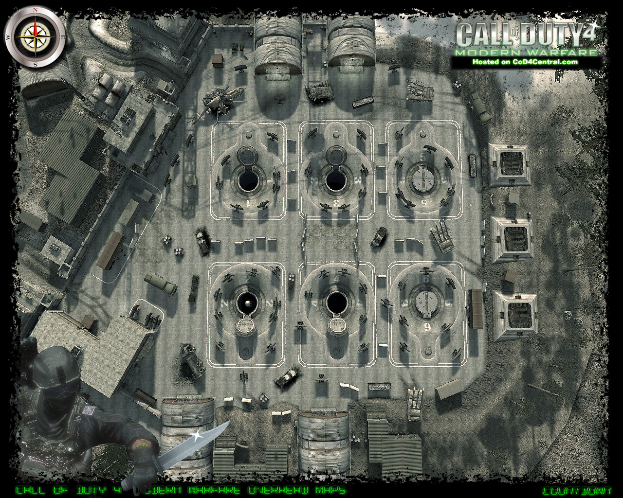 CoD4 Countdown Ultra High Resolution Map Image