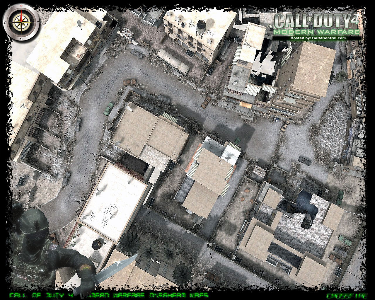 CoD4 Crossfire Ultra High Resolution Map Image