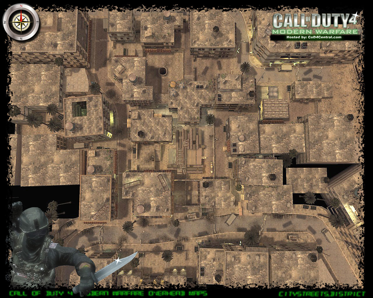 CoD4 District Ultra High Resolution Map Image
