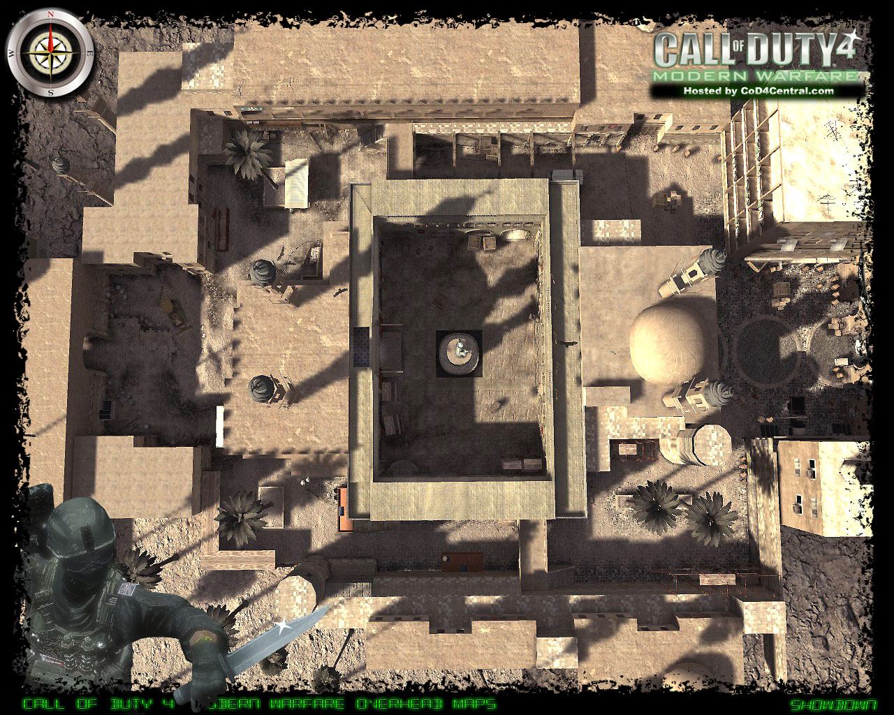 CoD4 Showdown Ultra High Resolution Map Image
