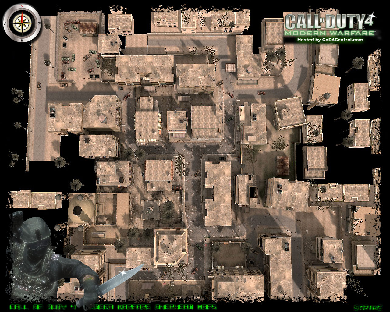 CoD4 Strike Ultra High Resolution Map Image