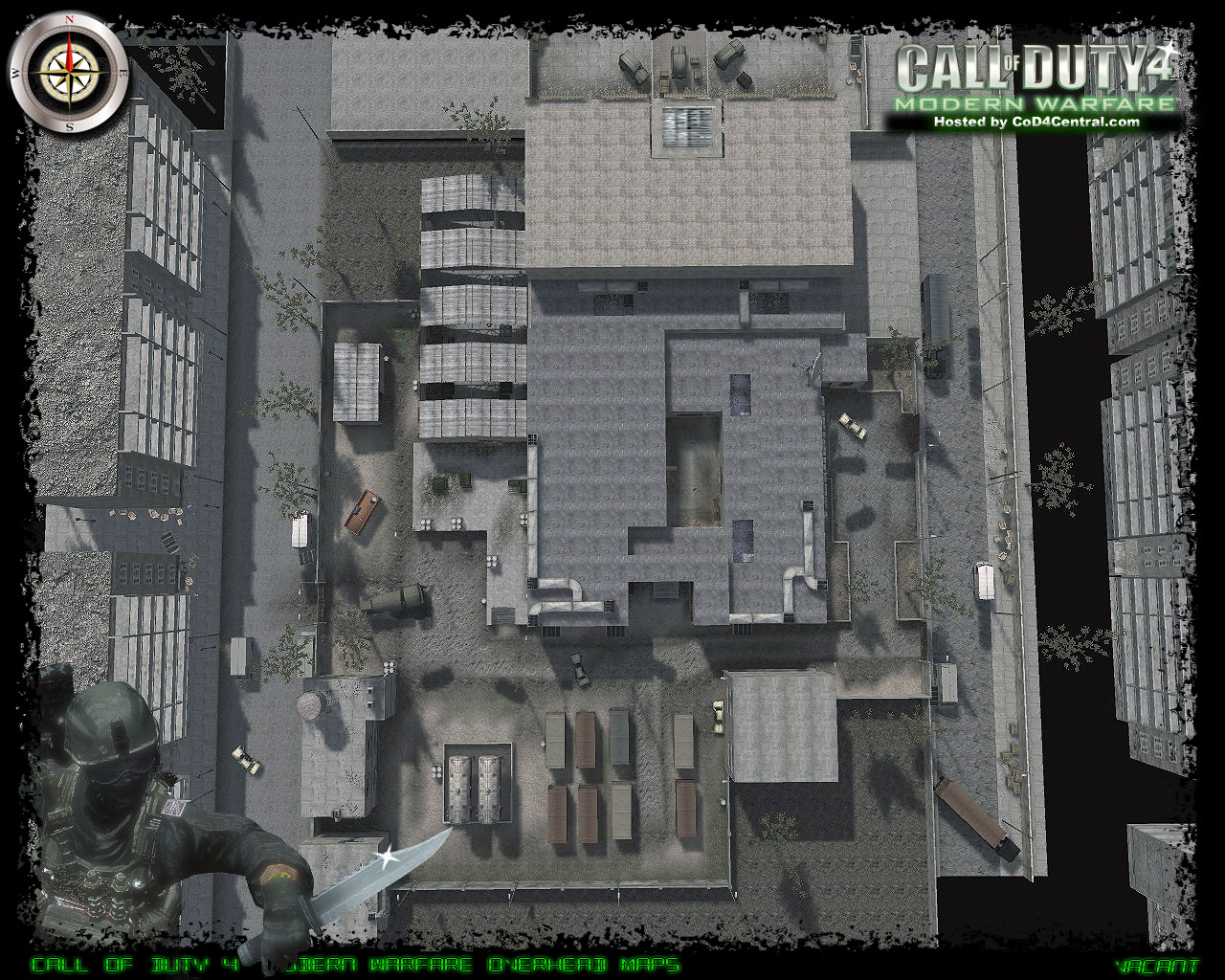 CoD4 Vacant Ultra High Resolution Map Image