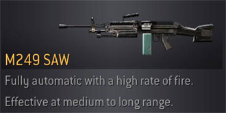CoD4 Weapon M249 Saw