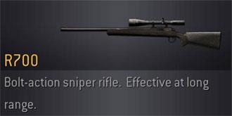 The R700 is a bolt-action  R700 Gun